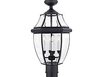 Quoizel Newbury 16 Outdoor Post Top Lantern in Mystic Black