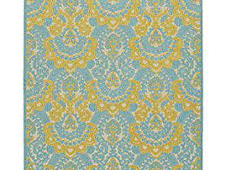 Kaleen Rugs FSR107-05-710108 A Breath of Fresh Air Machine Made Polypropelyne Rug, 7 10 x 10 8, Gold