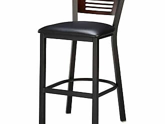 Regal Honors Slat Back 26 in. Metal Counter Stool with Wood Back Mahogany - 1316U-5S-26-ANODIZED NICKEL- MAHOGANY