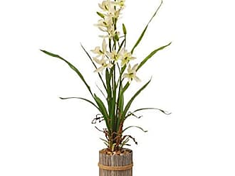 National Tree Company National Tree 30 Inch Garden Accents Cream Potted Flower (GAPF30-30C)