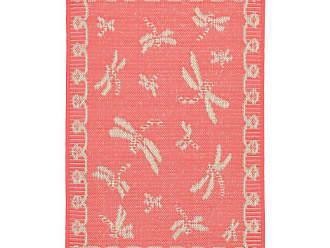 Liora Manne Terrace Dragonfly Indoor/Outdoor Area Rug Orange - TERR8179127