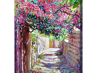 West of the Wind Shady Lane Indoor/Outdoor Canvas Art - OU-80618