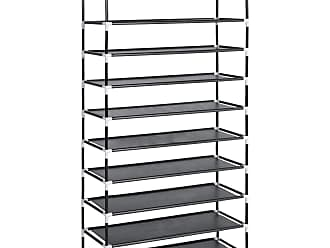 Best Choice Products 62.5in 10-Tier Shoe Rack Storage Tower w/ Adjustable Shelves