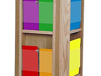 Wooden Mallet Divulge Spinning Counter Display with 8-Magazine/16-Brochure Insert Pockets, Medium Oak