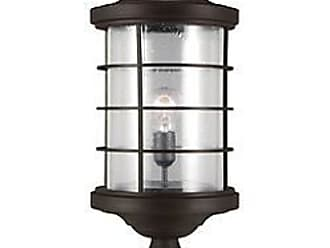 Sea Gull Lighting Sauganash Outdoor Post Light with Clear Seeded Glass
