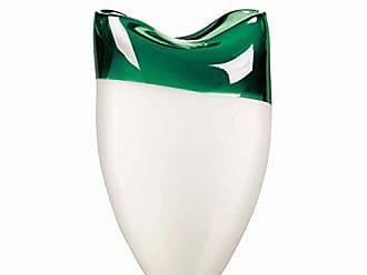 Qualia Glass Vase, 11.5, Green/White