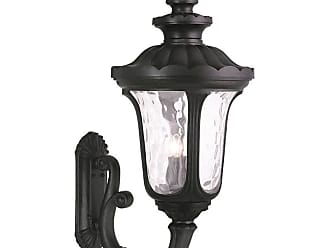 Livex Lighting 78700 Oxford 4 Light Outdoor Lantern Wall Sconce Black