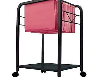 Dainolite HFC144-BK Hanging File Cart on Casters, Black