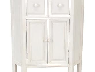 Wayborn Charleston Suchow Corner Cabinet, Whitewash