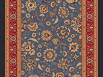 Milliken Carpet Pastiche Collection Aydin Rectangle Area Rug, 78 x 109, Moor blue
