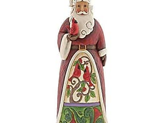 Enesco Jim Shore Heartwood Creek Santa Holding Cardinal Statue