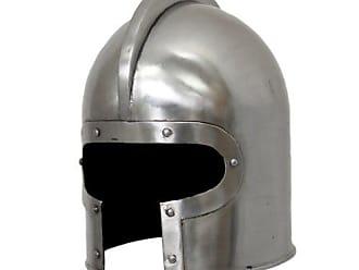 Urban Designs Imported Antique Replica 15th Century Italian Barbuta Amor Helmet, Silver