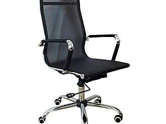 Pelegrin Cadeira Presidente em Tela Mesh Pel-7010h Preta Design Charles Eames