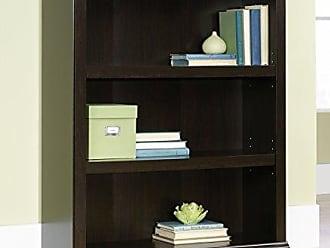 Sauder 410373 3-Shelf Bookcase, L: 35.28 x W: 13.23 x H: 43.78, Jamocha Wood finish