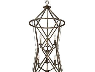 Millennium Lighting Lakewood 6-Light Pendant in Antique Silver