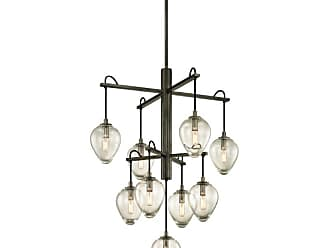 Troy Lighting F6207 Brixton 9 Light 30-1/4 Wide Chandelier with Clear
