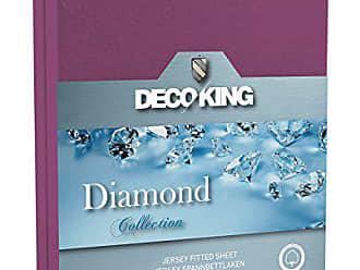 3b598e08b0 Decoking 21439 Wasserbett Spannbettlaken 80 x 200 - 90 x 200 cm Jersey  Baumwolle Spannbetttuch Diamond