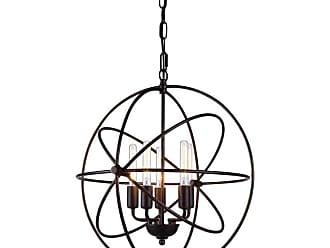 Elegant Furniture & Lighting Elegant Lighting Vienna 1453 Pendant Light Bronze Crystals, Size: 17 in. - 1453D17DB