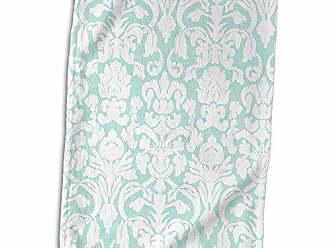 15 x 22 3D Rose Pattern Peacock Art Hand Towel Multicolor