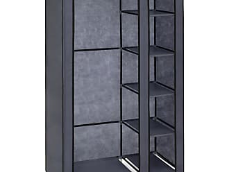 Best Choice Products 6-Shelf Portable Fabric Closet w/ Cover and Adjustable Rod - Gray