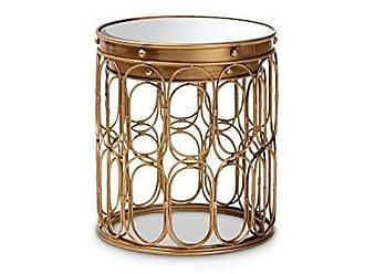Wholesale Interiors Baxton Studio 151-9056-AMZ end-Tables, One Size, Antique Gold