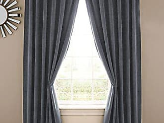 Ellery Homestyles ABSOLUTE ZERO Blackout Curtains for Bedroom - Velvet 50 x 108 Insulated Darkening Single Panel Rod Pocket Window Treatment Living Room, Stone Blue