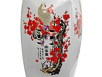 Oriental Furniture 18 Square Cherry Blossom Porcelain Garden Stool