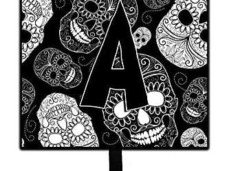 Carolines Treasures CJ2008-PSH4 Letter P Day of The Dead Skulls Black Leash or Key Holder Multicolor Small