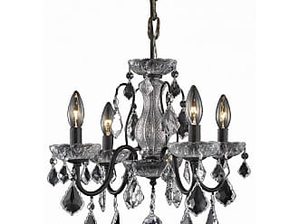 Elegant Furniture & Lighting Elegant Lighting St. Francis 2015D17 Chandelier Finish Swarovski Strass Elements Crystals - V2015D17DB/SS
