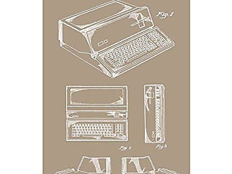 Inked and Screened SP_TECH_268,584_KR_17_W Apple Computer-1983 Print, 11 x 17 11 x 17 Kraft - White Ink