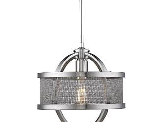 Golden Lighting 3167-M1L PW-PW Colson Single Light 11 Wide Pendant