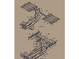 Inked and Screened SP_TECH_4,630,791_KR_17_K Transportable Solar Power Station Print, 11 x 17, Kraft-Black Ink