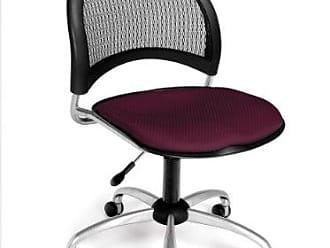 OFM Moon Series Armless Fabric Swivel Chair, Burgundy