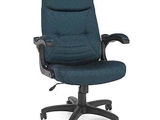 OFM 550-304 Mobile Arm Fabric Executive Chair, High-Back Conference Chair, 48.5 Height, 28.75 Wide, 30.5 Length, Navy