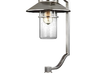 Feiss Boynton - 1 - Light Outdoor Post Lantern in Painted Brushed Steel