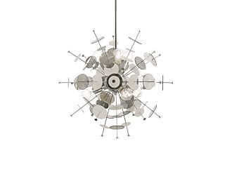 Livex Lighting 40074 Circulo 6 Light 24 Wide Sputnik Chandelier Satin