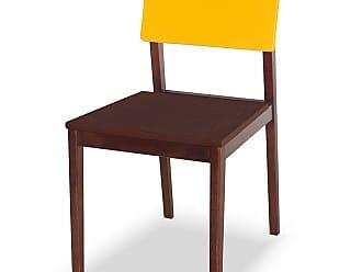 Nem Tudo é Igual Cadeira Felipe Marrom Escuro e AmareloMarrom Escuro e Amarelo