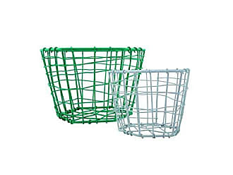 Foreside Home And Garden Hexagon Jade and Beige Baskets, Set of 2