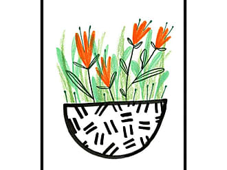Ptm Images Flowerpot 3 Framed Canvas Wall Art - 9-115403