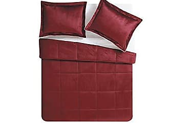 VCNY Home VCNY Home Micro Mink Reversible Sherpa 2 Piece Bedding Comforter Set, Twin, Deep Red