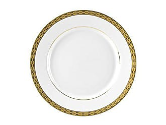 10 Strawberry Street Athens 8 Salad/Dessert Plate, Set of 6, Gold