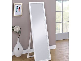 Overstock Cottage White Rectangle Stannding Wall Mirror 55 In. High