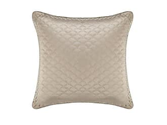Five Queens Court Zarah 20 Throw Pillow, Satin Damask Embroidered, Taupe