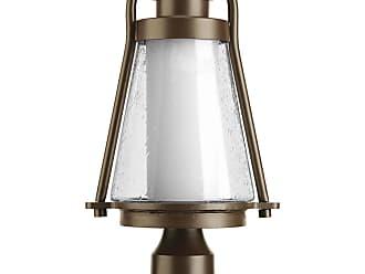 PROGRESS P6405-20 1-Lt. Med. Post Lantern in Antique Bronze finish