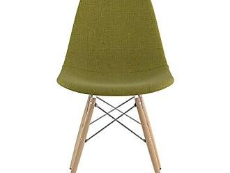 NyeKoncept 331002EW1 Mid Century Dowel Side Chair, Avocado Green