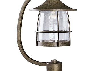 PROGRESS P5463-86 One-light post lantern in Burnished Chestnut finish with clear seeded glass