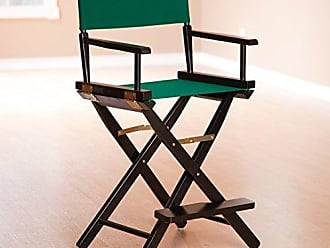 Yu Shan Casual Home 24 Directors Chair Black Frame-with Hunter Green Canvas, Counter Height
