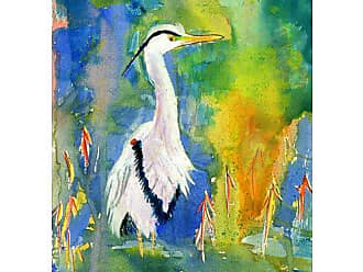 Betsy Drake TP329 D&Bs Blue Heron Outdoor Wall Hanging 24 x30