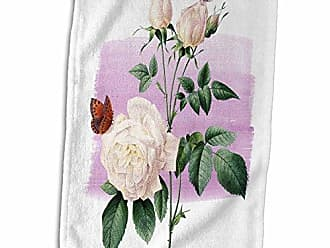 3D Rose Guitar and Bass Stylized TWL/_175951/_1 Towel 15 x 22