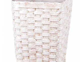 Privilege International 66657 Ceramic Weave Basket, Large